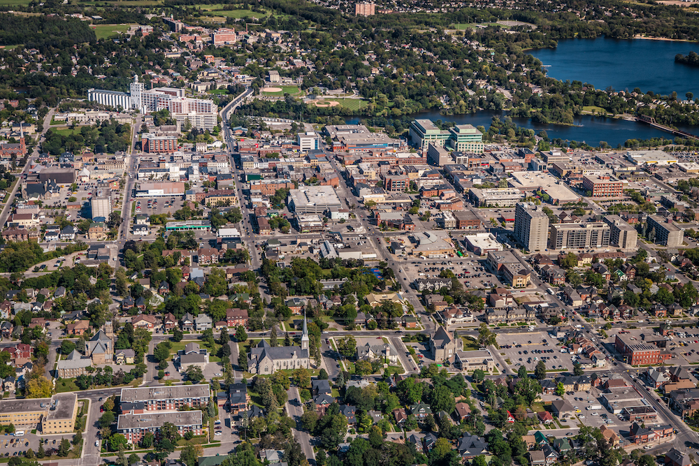 Aerial photo of Peterborough
