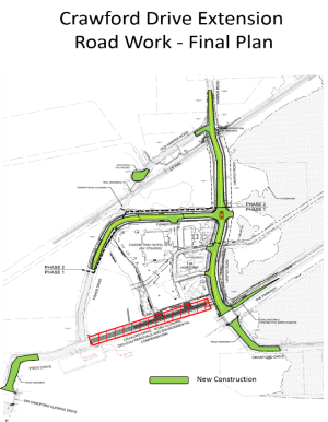 Map of final plan for Crawford Drive extension