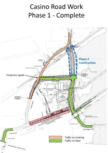 Map of Crawford Drive extension phase 1 complete