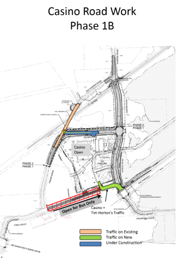 Map of Crawford Drive extension phase 1b