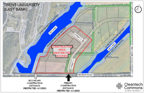 Map of Cleantech Commons construction area