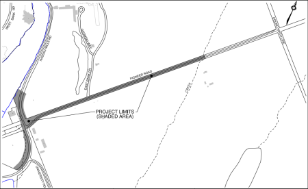 Map of Pioneer Road project