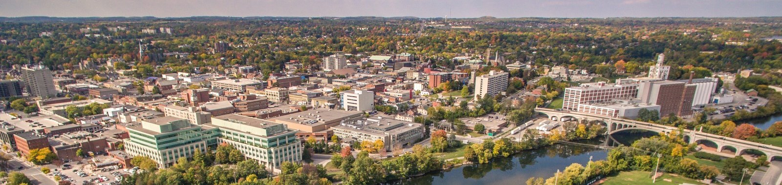 Aerial view of Peterborough