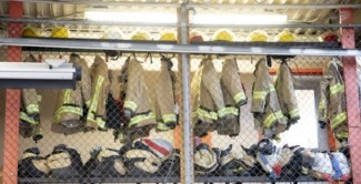 Fire fighter gear hanging up