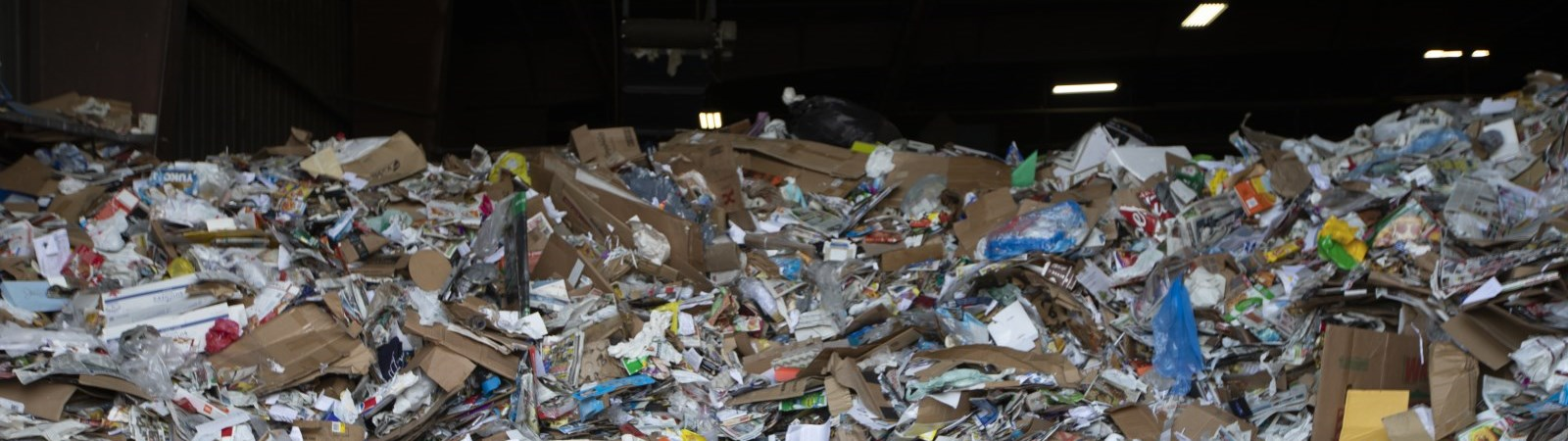 Recyclable materials in a large pile