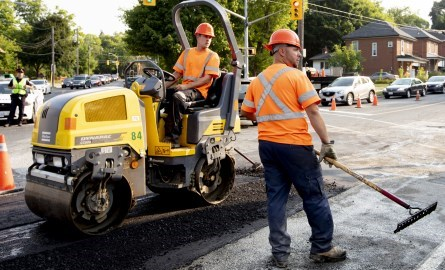 Public Works completing road work downtown