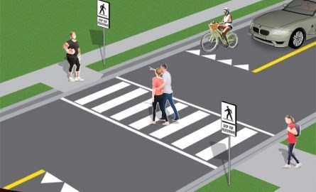 pedestrian crossing illustration