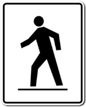 pedestrian crossover sign