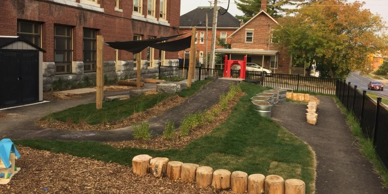 Outdoor space at Pearson Day Care