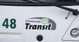 Front of a public transit bus