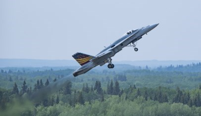 RCAF CF18 in flight