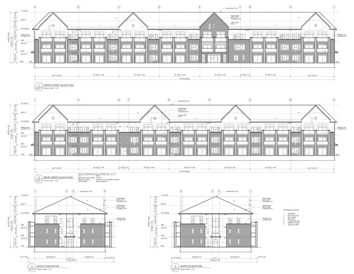 Elevations for proposed development