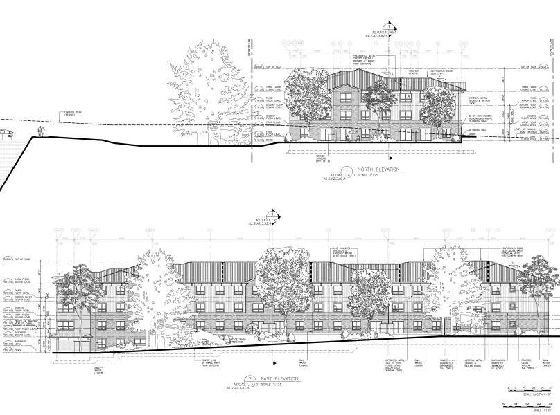 East and North Elevations