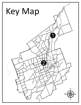 Map showing location of applications
