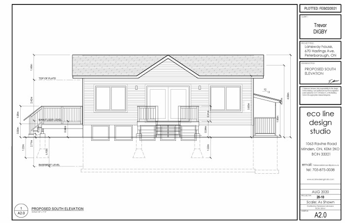 Elevation for proposed development