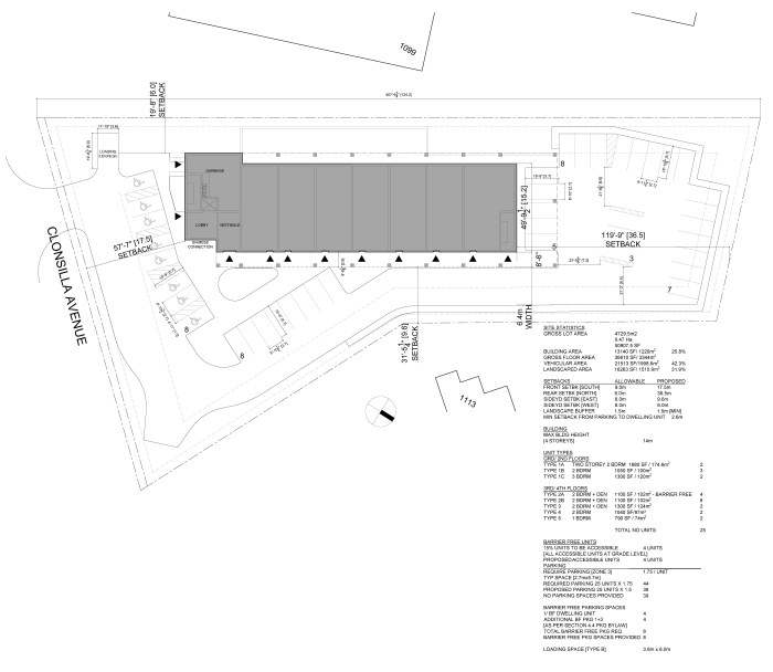 Site Plan for proposed development