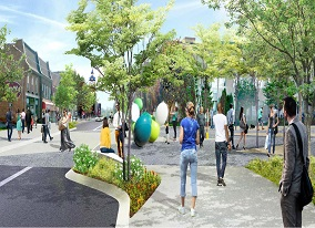 Rendering of Louis Street Park