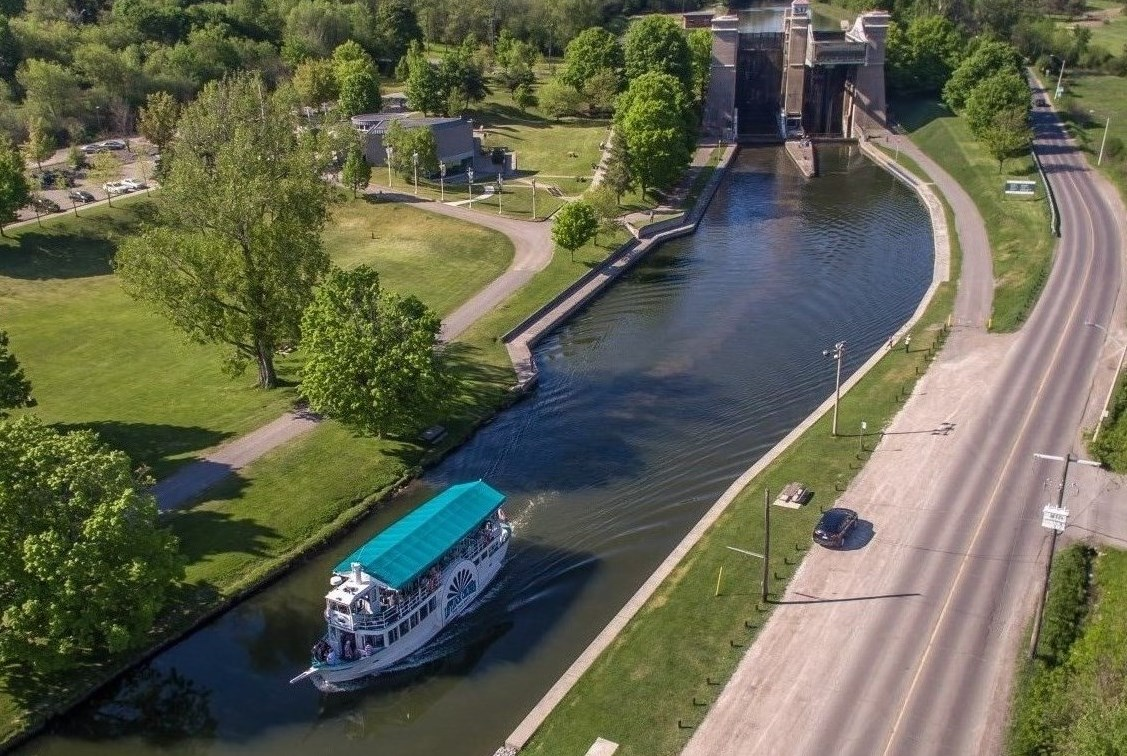 Arial view of Lift Lock