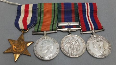 Muesum collection of military medals