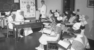 Archival image of nursing students