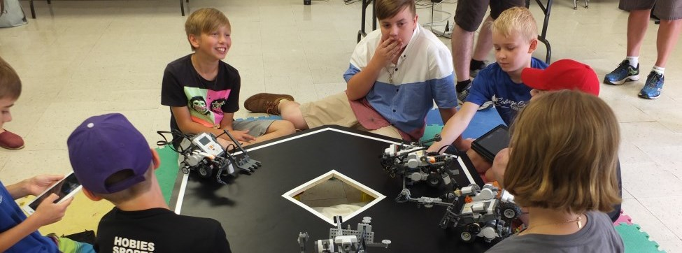 kids with robotics