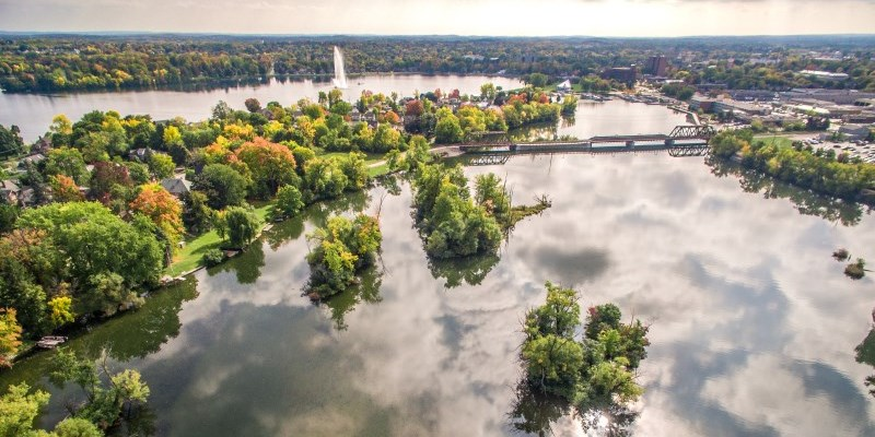Otonabee River from above