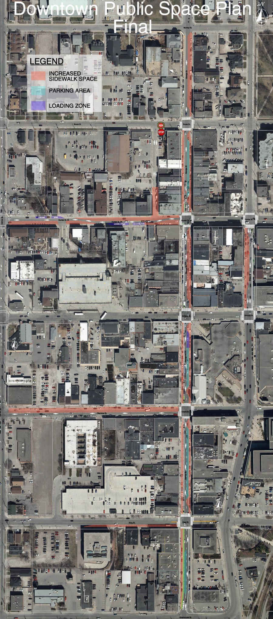 Map of downtown public space changes