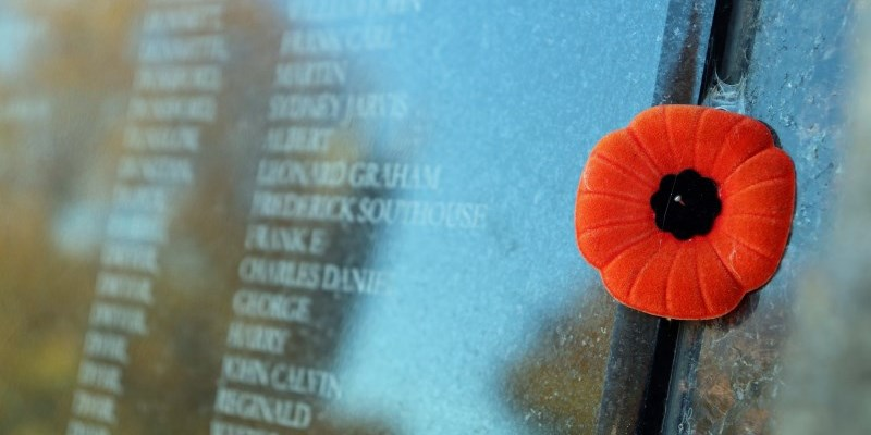 Poppy on the Wall of Honour